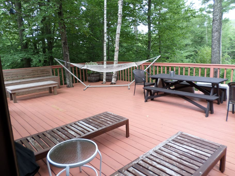 View of left side of deck from the diningroom