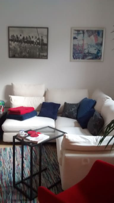 Wohnzimmer Blick aus dem Schlafbereich