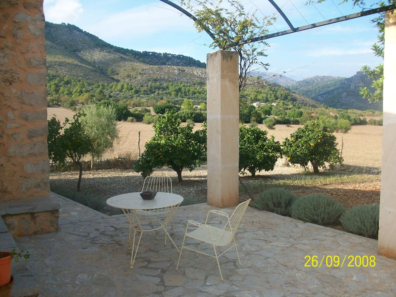 View from the house towards Puig Tomir