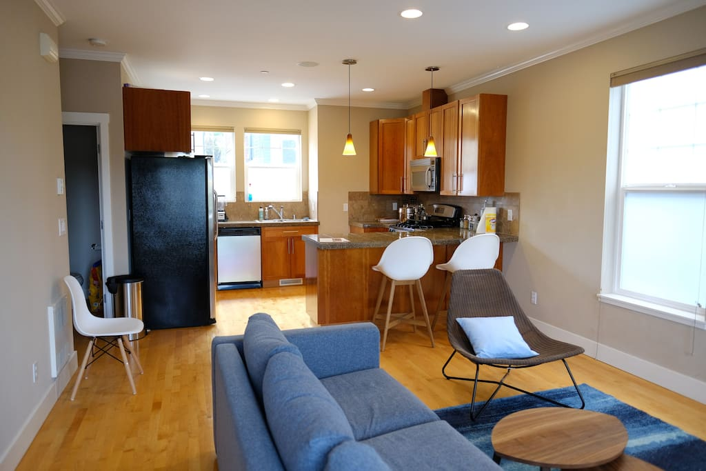 Full access to the shared living room and kitchen