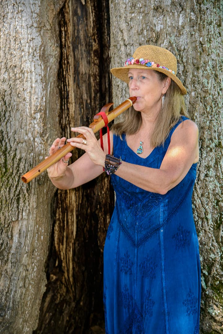 Ruth on Native American Flute