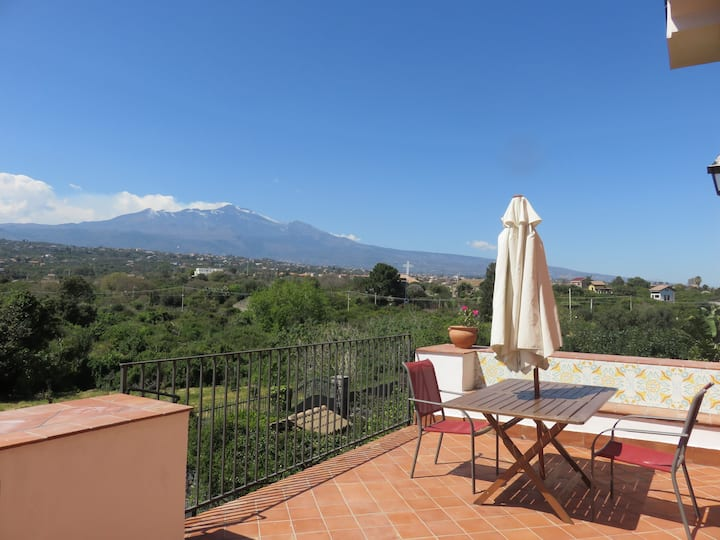 Etna and see view terrace,pool