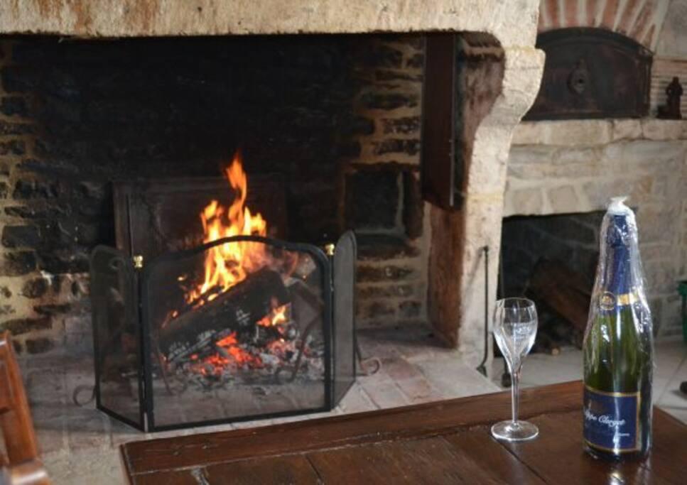 salle à manger avec cheminée Style LOUIS XIV