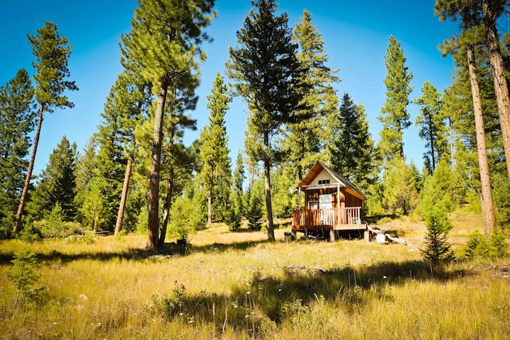 Off grid and quiet - mini cabin close to Missoula - MT - 통나무집