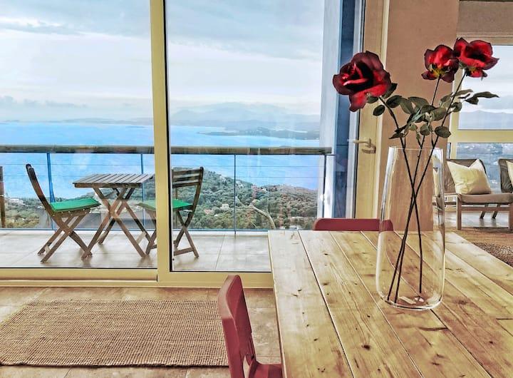 House Sienna, Corfiot Riviera, Best Views!