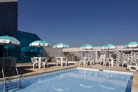 Flat em Hotel com serviços e lazer diários - São Vicente