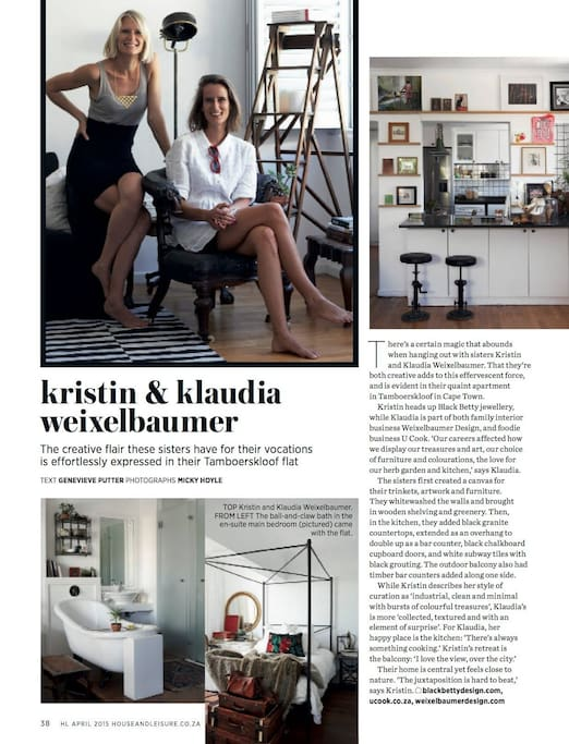 The Flat was in the House & Leisure magazine - spread 1