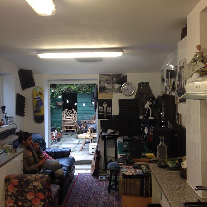 kitchen / lounge area Ft Alishka aka LISH