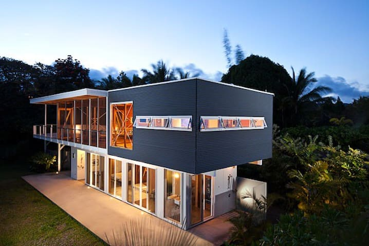 Modern architectural masterpiece in the jungle