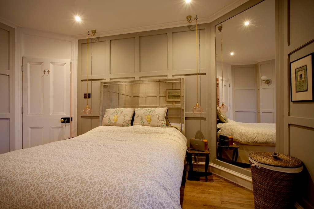 Bedroom 2 with antique venetian panelling