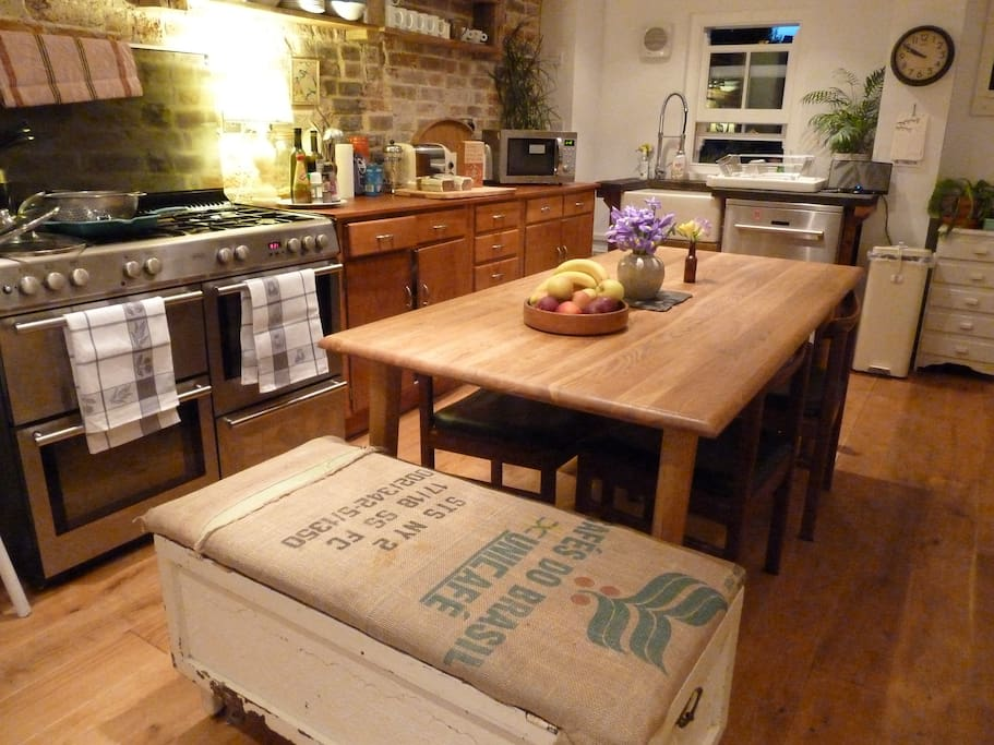 The large open kitchen, perfect for a enjoyable dinner