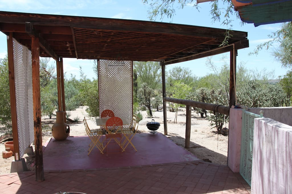A private Ramada for outside dinning.