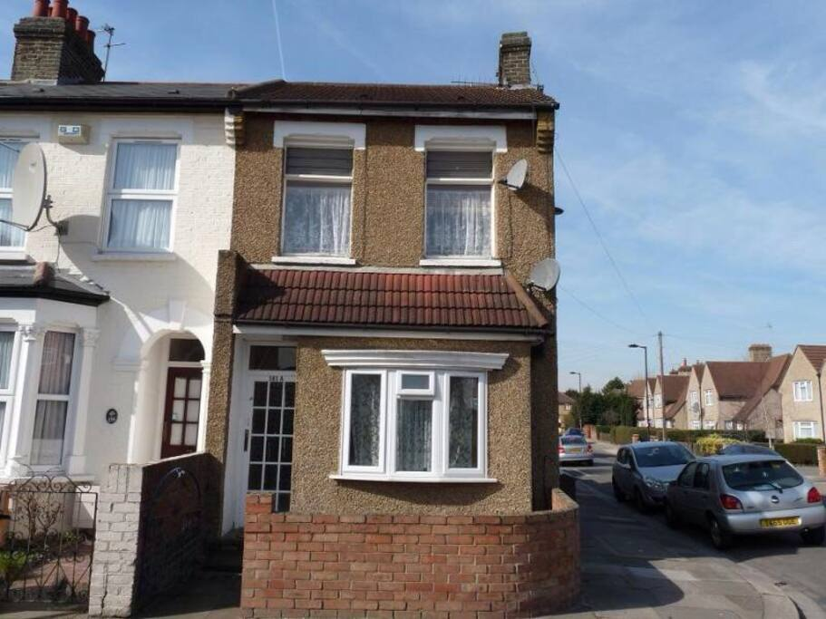 The house is situated on a quiet residential road near to a park.