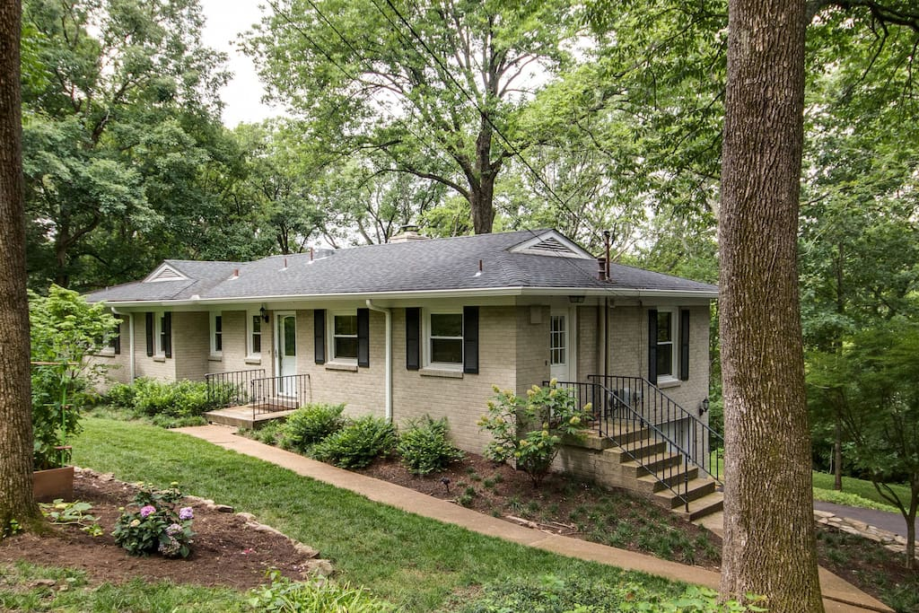 A peaceful wooded setting just 10 minutes from 12South and 15 minutes from downtown!