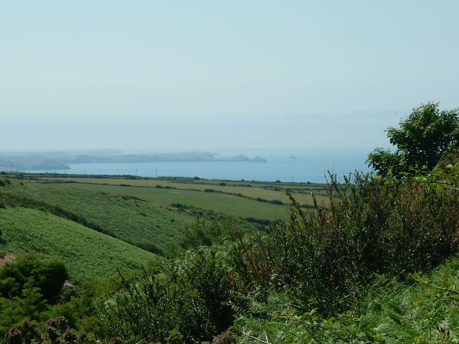 View over Trebarwith valley