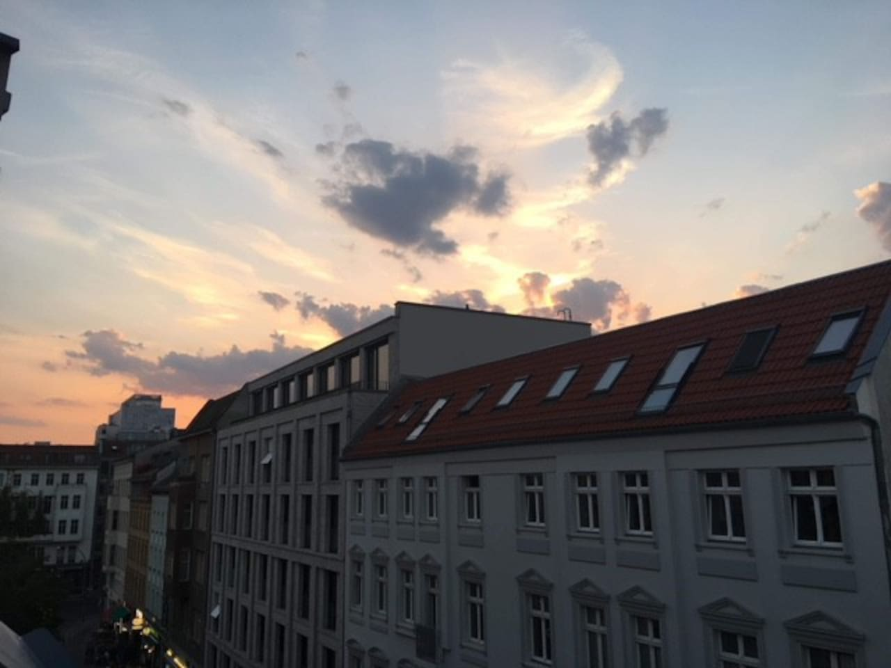 views over the rooftops on linienstrasse