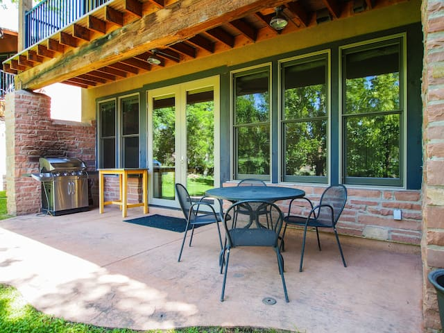 #5 - Patio, Deck, BBQ, field views and 2 bedrooms