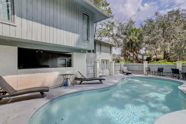 12 Bald Eagle West 5 BR Sea Pines Pool