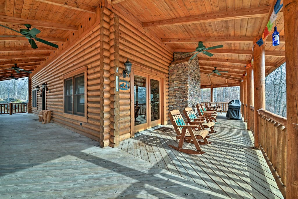 Kick back with your favorite beverage on the expansive wraparound deck.