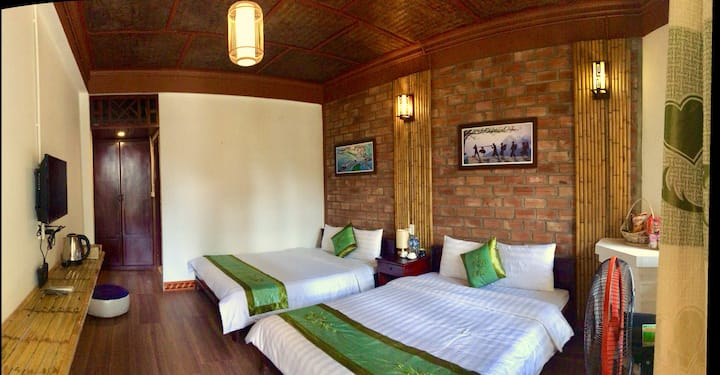 Standard Triple room at Mangcay House Sapa
