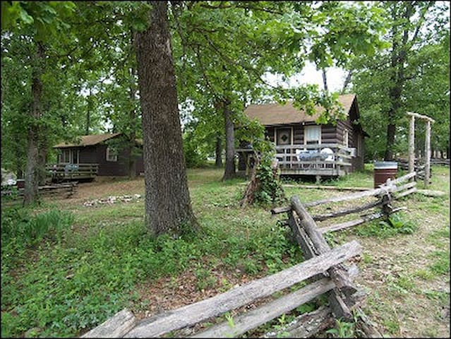 Pet friendly cabins on a secluded resort