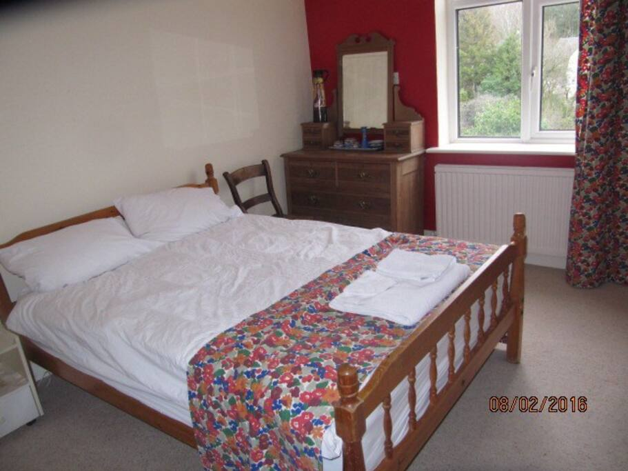 Guest bedroom with view to Arnside Knott