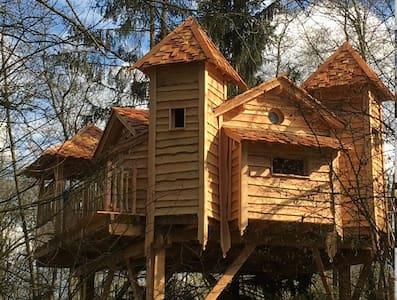 La Cabane SPA de l'Ile - proche de Paris - Orly-sur-Morin - Rumah Pohon