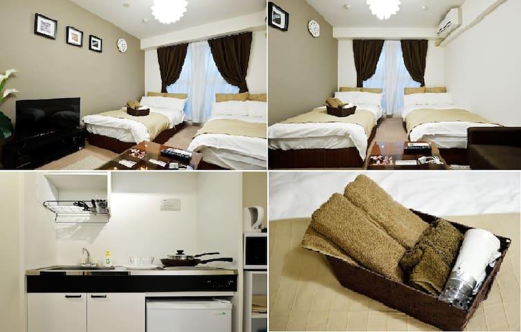 Cozy apartment close to Kaiyukan, USJ WI-FI #203