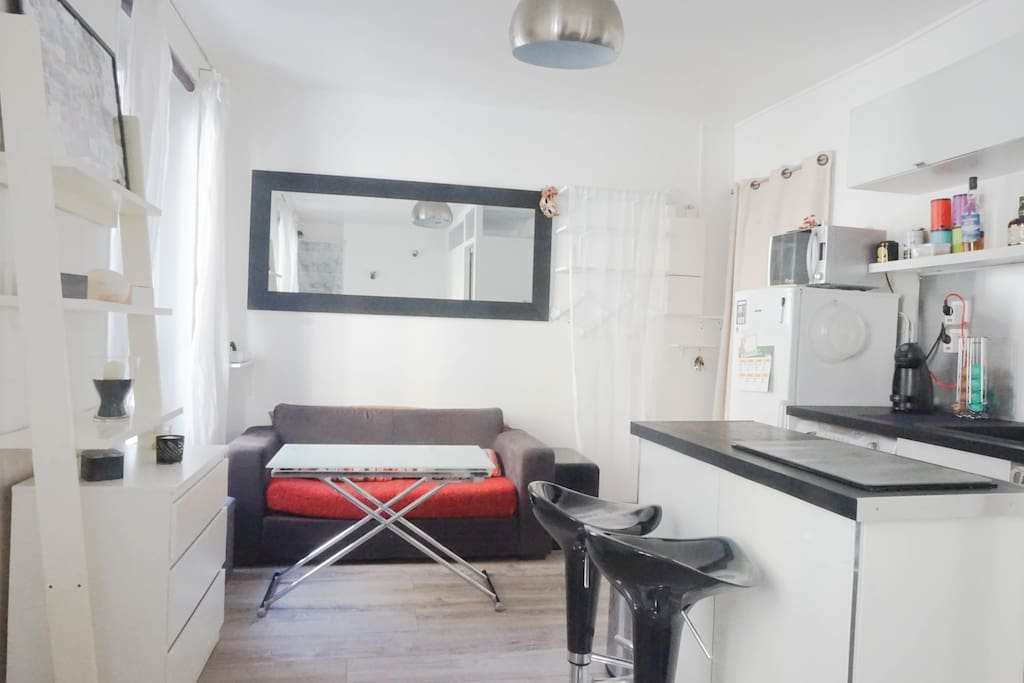 Cosy linving room and kitchen