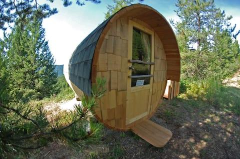 Barrel Cabins on Organic Farm #2