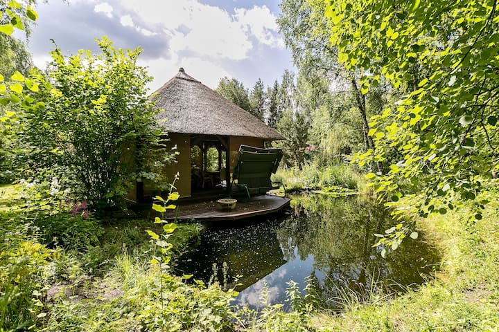 Gorgeous dacha with pond and forest
