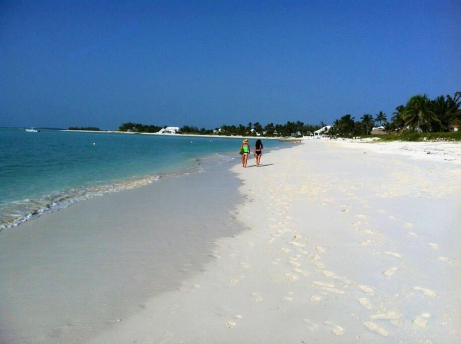 Three and one half mile White sand beach!