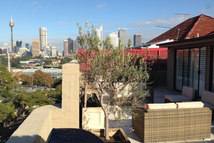 Penthouse w Terrace & Skyline View