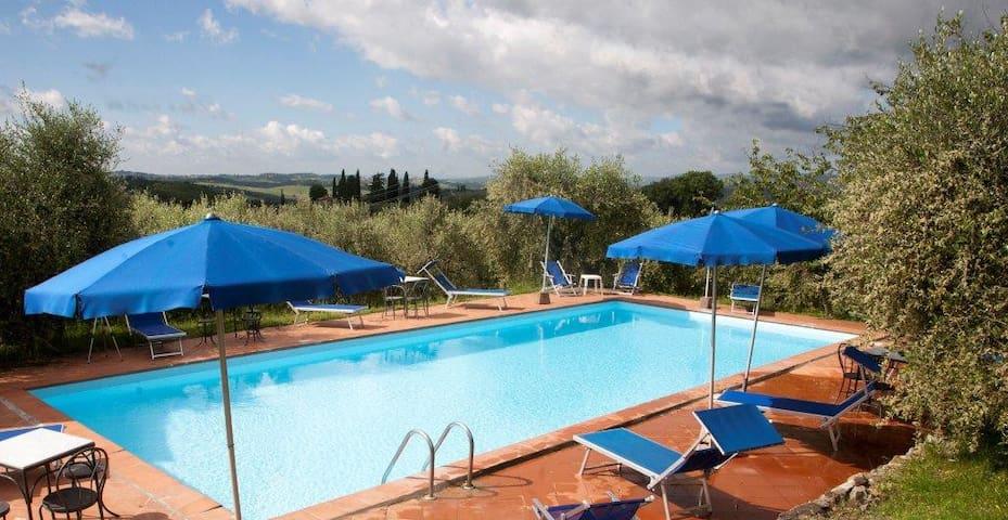 """Foresta 4 """"agriturismo nel chianti"""" con piscina - Castellina in Chianti - Apartment"""