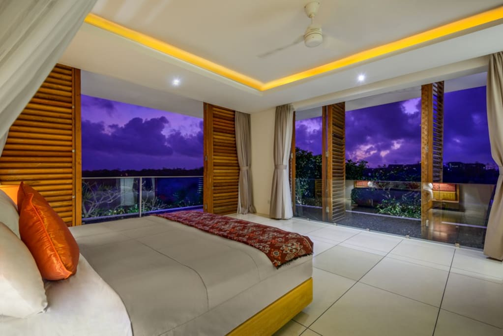 Enjoy a spectacular sunrise from your private guest bedroom. All four guest bedrooms have a  ensuite bathrooms.