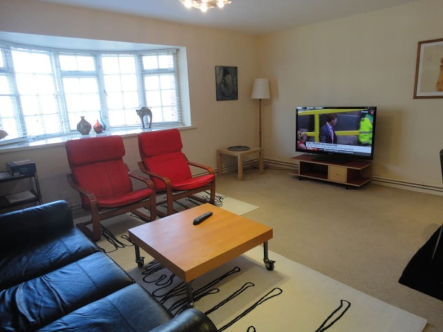 the living room/dining room - very spacious and full of light with large bay window