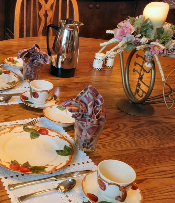 Breakfast awaits - vintage china and all
