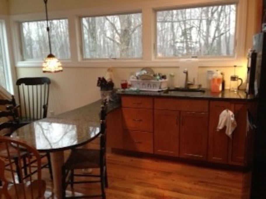 Your kitchen up in the treetops, marble counters, oak floor. (shared w/one other)