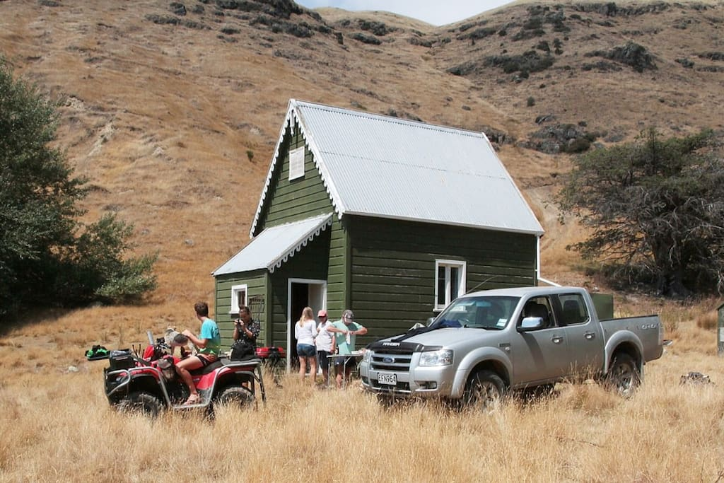 The Ole School House at Little Port cooper, your home for the next few days, quad bike and ute not included!