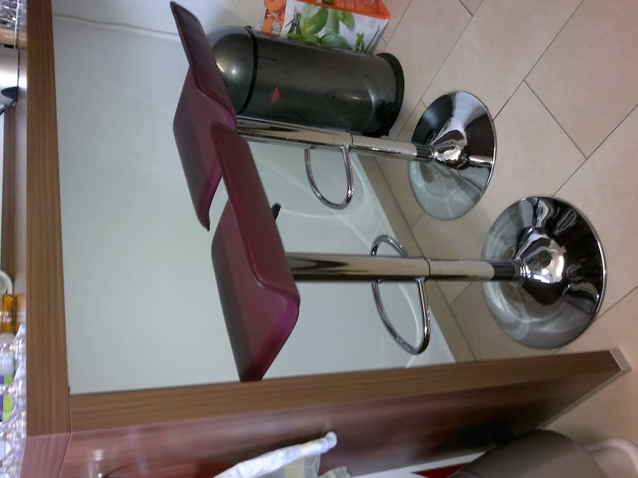 Sitzgelegenheit zum Frühstücken in der Küche