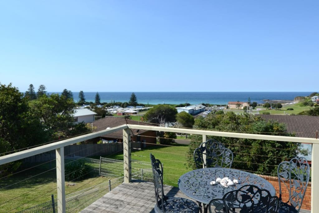 Watch whales from the deck of this apartment