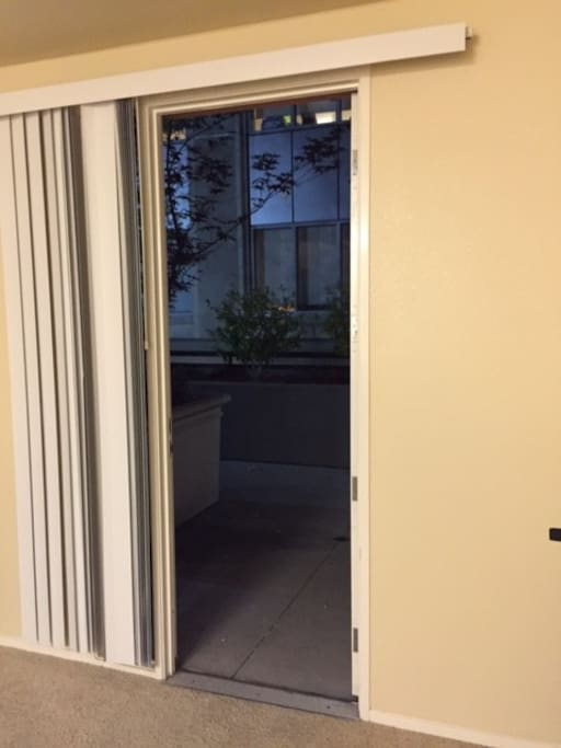 Access to the first floor from the apartment.