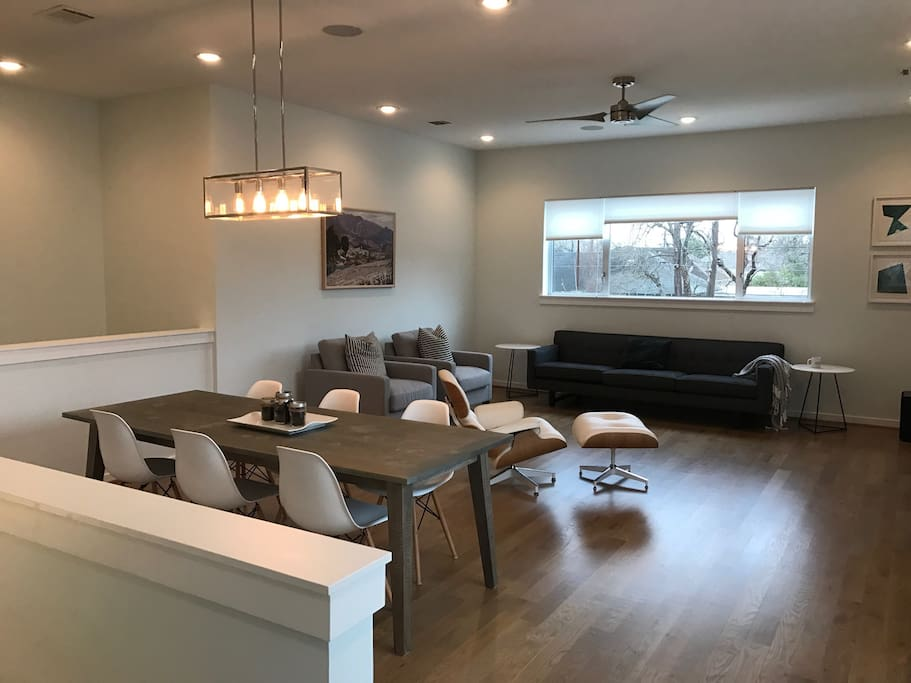 Living Room and Dining Area- Open Floor Plan