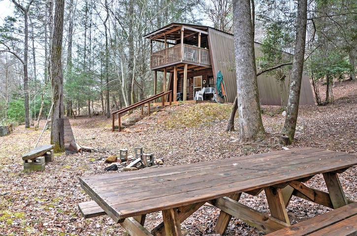 'Adams Family' 3BR Cleveland Cabin on Creek! - Cleveland - Chatka
