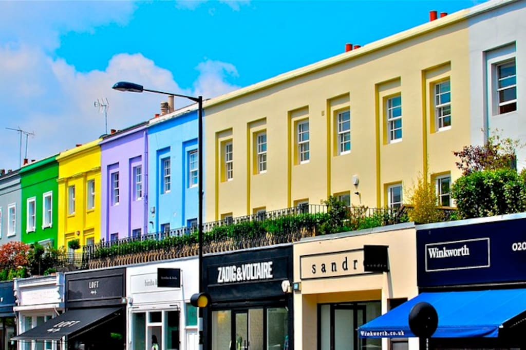 Gorgeous Westbourne grove and Notting Hill. This is literally right outside (opposite) our front door!