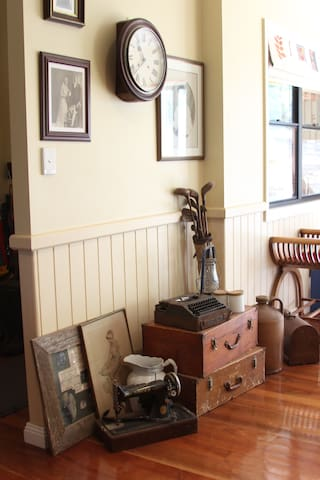 The dining room/living area with its old artefacts.