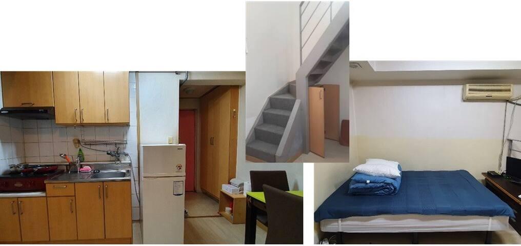 #2 cozy loft near Yonsei (my own bed kitchen bath)
