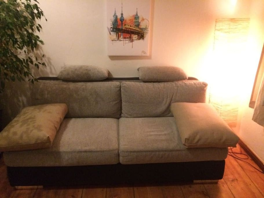NEW! Box Spring sofa bed for 2 (2×2m)