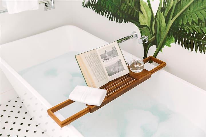 #HabitueHomes- SweetPea Tiny Home ~ Luxury Bath Living