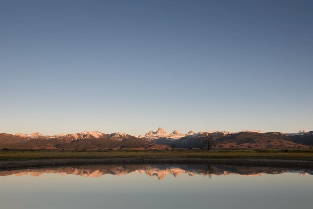Pond outside with Teton Views